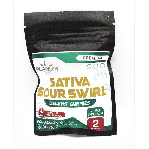 Platinum 140mg THC Sativa Sour Swirl