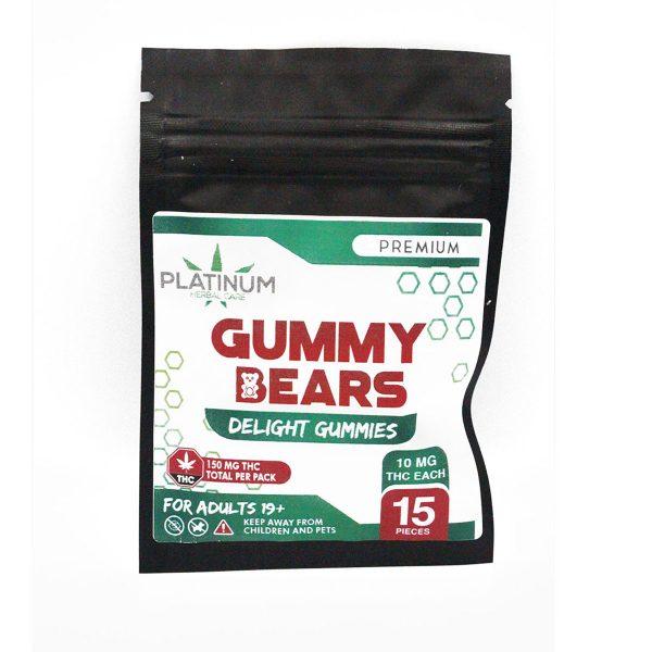 Platinum 150mg THC Gummy Bears2