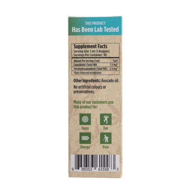 Twisted Extracts Sativa 31 Cannabis Oil Drops 75MG THC 225MG CBD 4 1200x1200