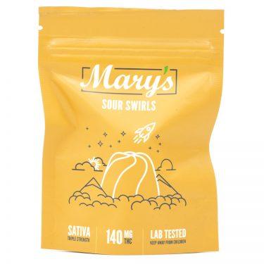 Marys Triple Strength Sativa Sour Swirls 140MG THC